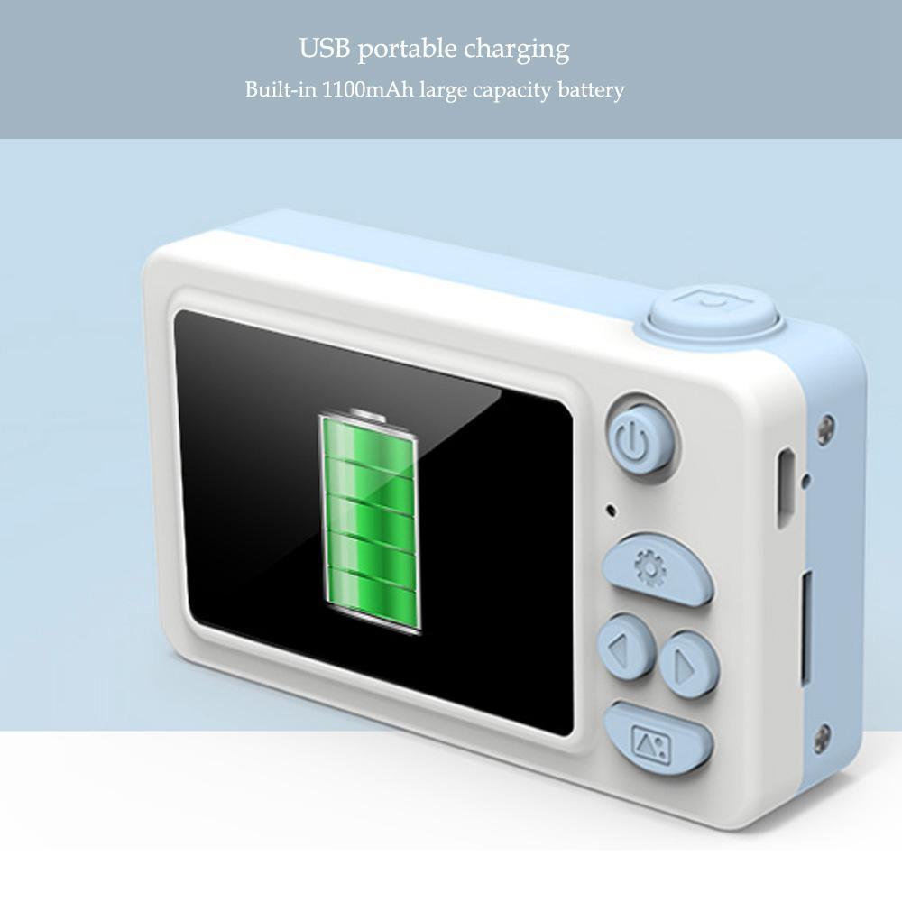 Jouet caméras 8MP bande dessinée caméra HD vidéo Mini caméra caméscope pour enfant bébé cadeaux 2.2 pouces numérique vidéo créative bricolage 8GB mémoire - 4