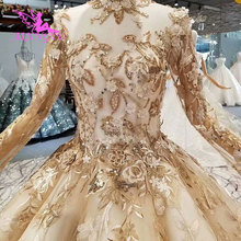 AIJINGYU Satin Wedding Dresses Train Gowns Sexy engagement Bride Couture Bridals Sequin White Ball Gown Nova Wedding Dress