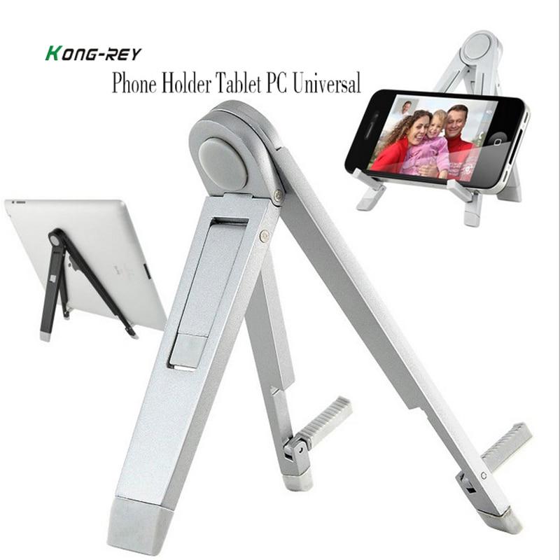 KONG-REY Universal Tablet PC Holder Foldable Adjustable Angle Desk Phone Holder Stand Flexible for Samsung iPad Tablet PC