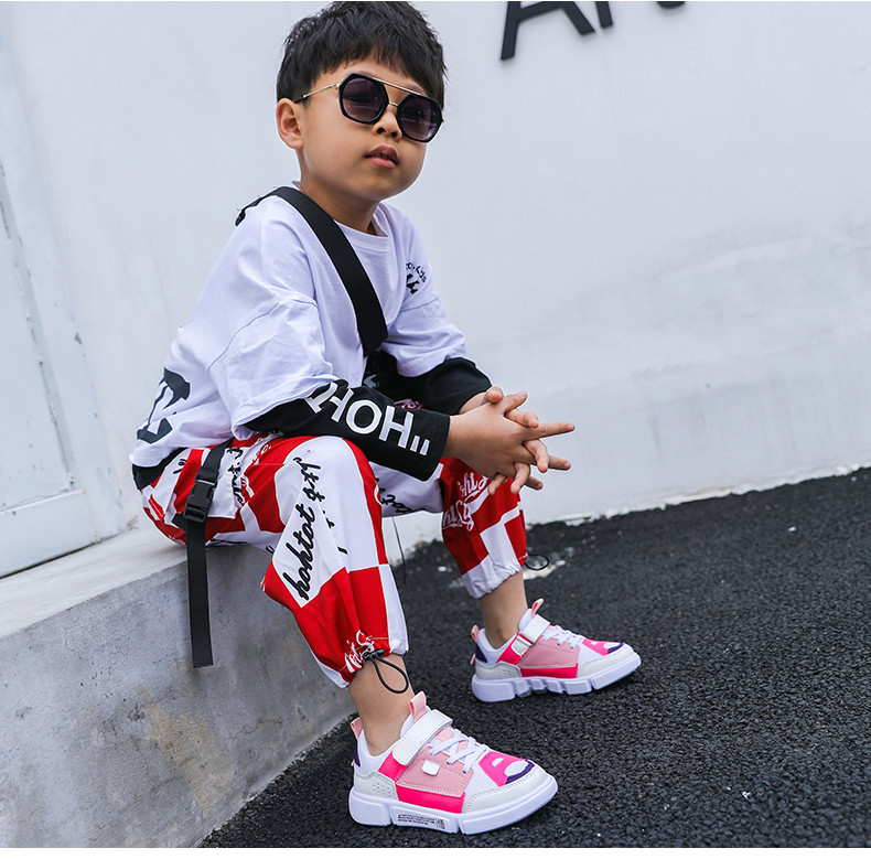 2019 Autumn New Girls Sneaker Kids Shoes Fashion Breathable Pink Leisure Sports Running Shoes For Boys Brand Casual Children Shoes (13)