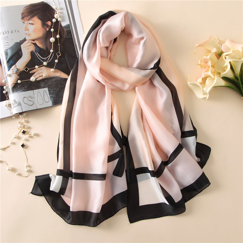 2019 Luxury Brand Designer Plaid Silk Scarf Women Print Soft Pashmina Foulard Female Poncho Wrap Quality Shawl Sjaal 180*90Cm