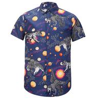 VanMe New 2017 Men Eagle Tiger 3D Digital Fashion Cotton Casual Shirts Shirt High Quality Pocket