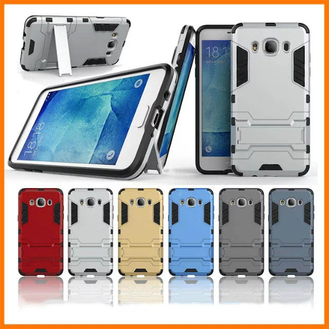 For <font><b>Samsung</b></font> Galaxy <font><b>J5</b></font> <font><b>2016</b></font> J510 Cases Heavy Duty Armor Shockproof Hybrid Soft Silicone Rubber Phone Case for J510 Cover Shell (< image