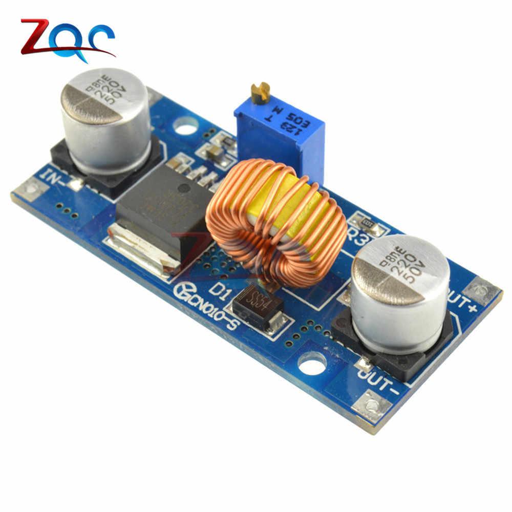 5A DC-DC Passo Imbottiture Regolabile Modulo di Alimentazione LED di Litio Caricabatterie XL4015 4 ~ 38V 96% 5A DC regolabile passo-Imbottiture modulo