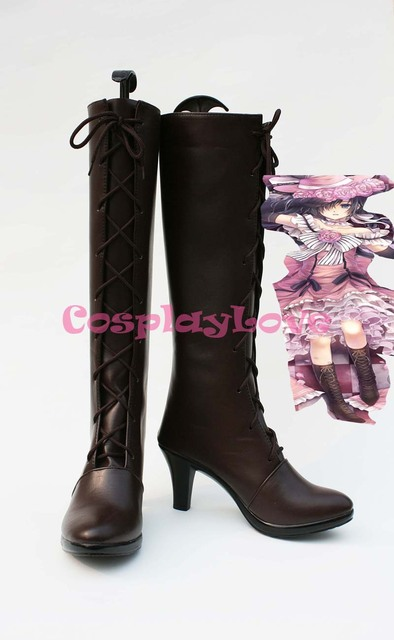 Black Butler Kuroshitsuji Ciel Cover 6th Cosplay Shoes Boots Custom Made