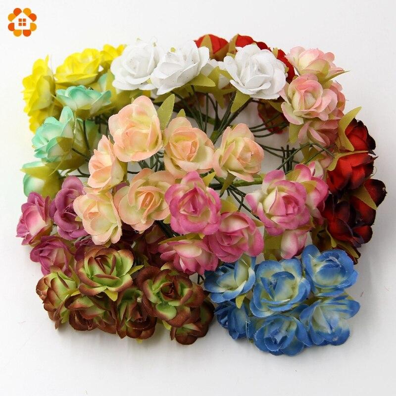 30 unids diy mini flores artificiales de seda ramo de la boda home party & scrap