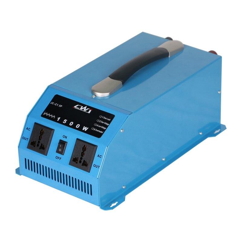 Portable 1500 W pur onduleur à onde sinusoïdale 12 V 24 V à 110 220 convertisseur de tension Multi Protection convertisseur 12 v à 220 v Inversor