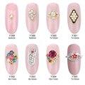10pcs Glitter nail diamonds rhinestones gem 3d alloy nail art jewelry decoration strass adesivo accessories supplies Y388-Y395