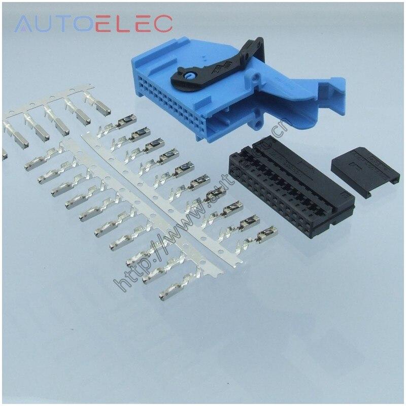 1Kit 7M3972726A  Automotive Connector With ECU Terminal For Trunk Lid Control Unit Volkswagen Audi VW GTI Rabbit Jetta Mk5