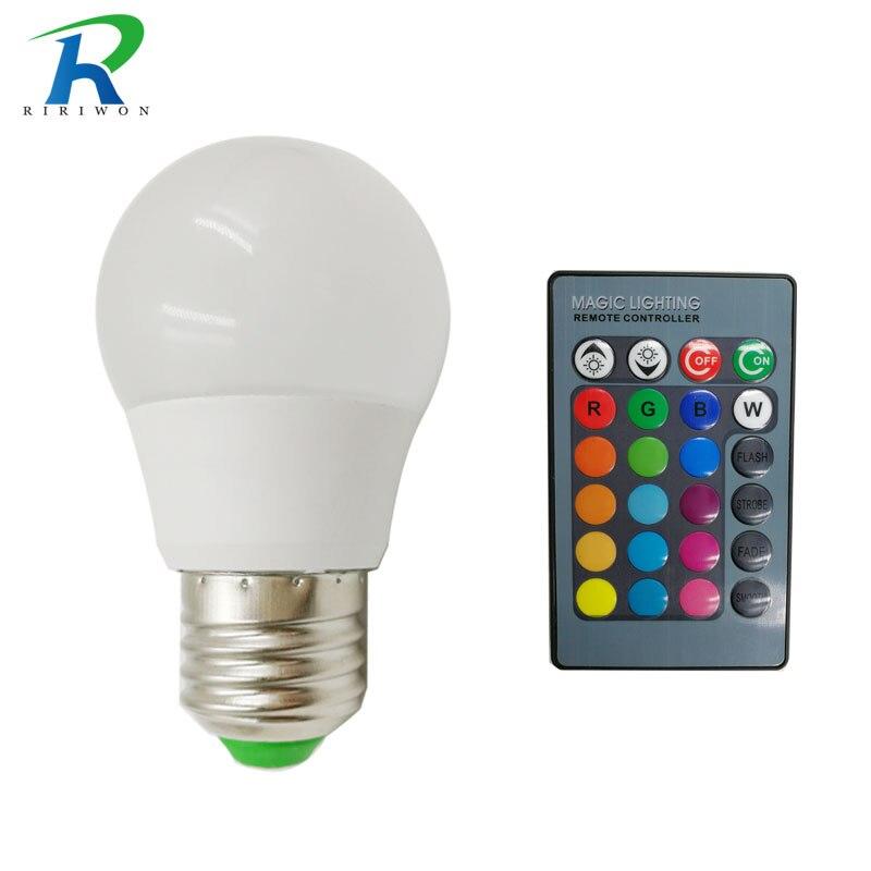 RiRi won SMD RGB LED Bulb Light Lamps E27 220V Smart Real 5W Power High Brightness Lampada LED Bombillas led light
