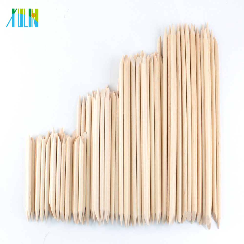 4 Different Sizes Orange Wood Sticks For Cuticle Pusher Cuticle Remove Tool Forks For Nails Manicures Tools 10/30/50/100Pcs/Set
