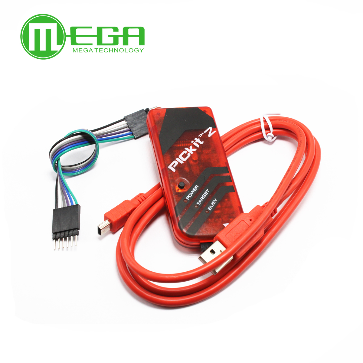 PICKIT2 PIC Kit2 Simulator PICKit 2 Programmer Emluator Red Color w/USB cable Dupond Wire