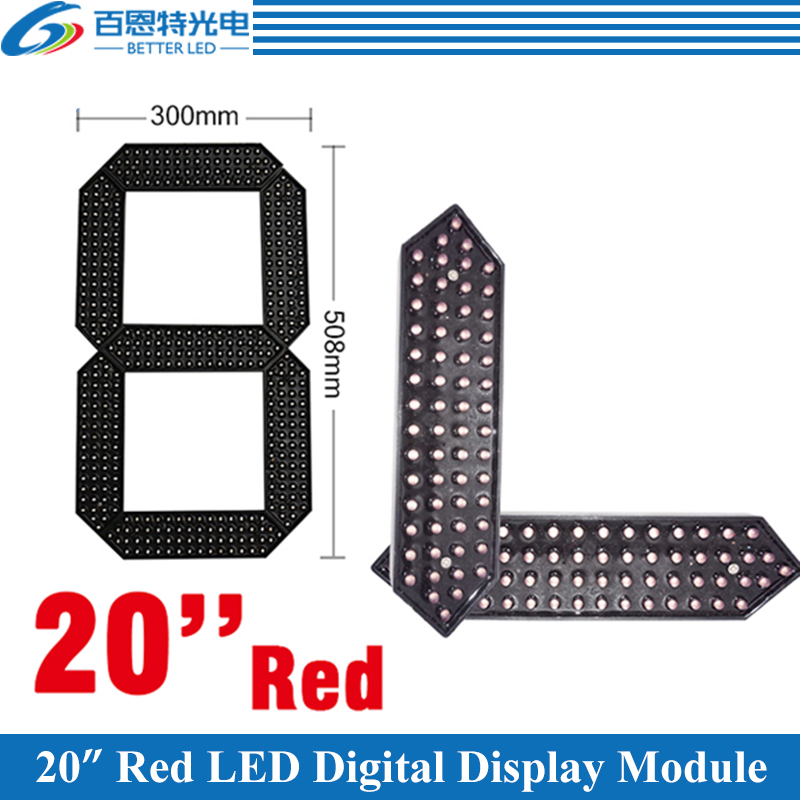 4pcs/lot 20 Red Color Outdoor 7 Seven Segment LED Digital Number Module for Gas Price LED Display module 4pcs/lot 20 Red Color Outdoor 7 Seven Segment LED Digital Number Module for Gas Price LED Display module