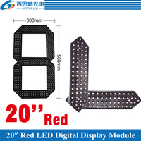 4pcs/lot 20 Red Color Outdoor 7 Seven Segment LED Digital Number Module for Gas Price LED Display module