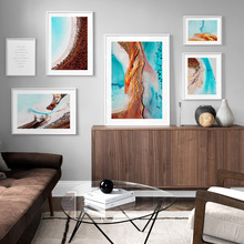 Sea Beach island Tree Plant Abstract Landscape Wall Art Canvas Painting Nordic Posters And Prints Wall Pictures For Living Room