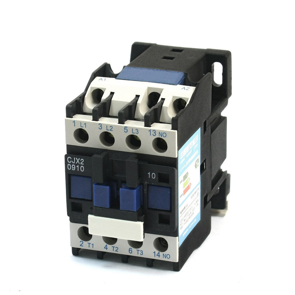 3Pole+NO CJX2-0910 AC 24V 50/60Hz Coil Voltage 9A ,AC-3 Rated Operational Current Motor Control AC Contactor DIN Rail Mounting3Pole+NO CJX2-0910 AC 24V 50/60Hz Coil Voltage 9A ,AC-3 Rated Operational Current Motor Control AC Contactor DIN Rail Mounting