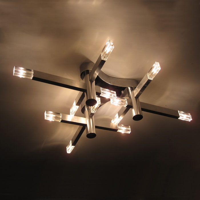Aliexpress Buy Modern Crystal Cube Living Room Ceiling Lamp Simple Style Aluminum Tube Restaurant Study Lighting Fixtures From Reliable