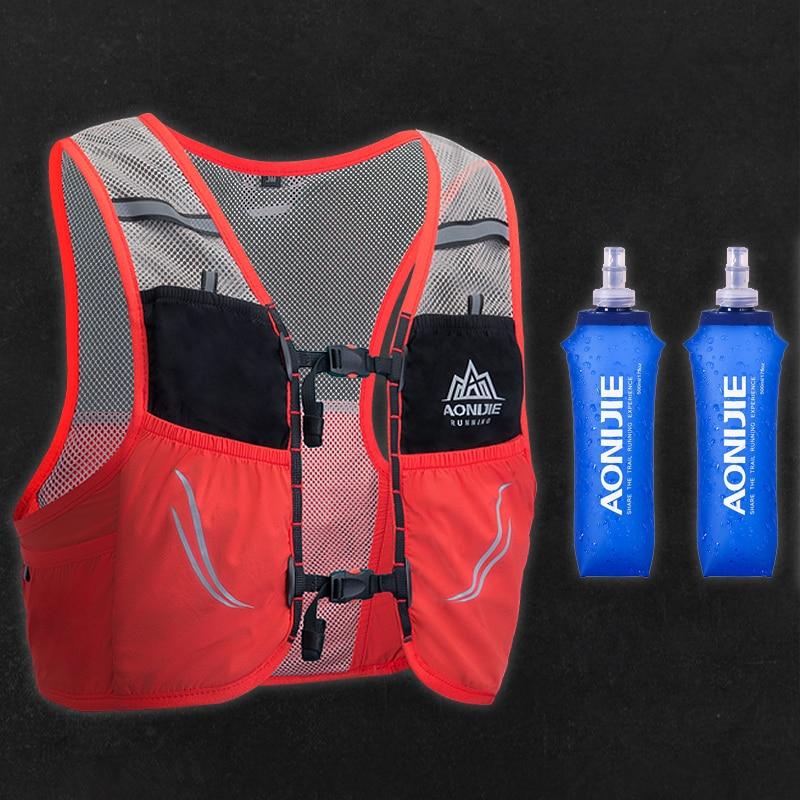 Trail Running Vest Backpack 2.5L Ultra Running Hydration Vest Pack Marathon Running Rucksack Bag 500ml Soft Flask AONIJIE