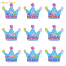 GraceAngie 6pcs Children Mini Crown Resin Charms Royal Princess Crown Flatback Cabochon Crafts DIY Hair Accessory Findings
