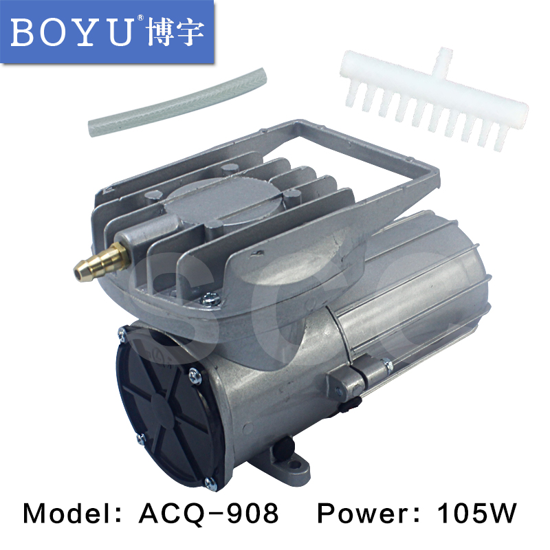 BOYU DC air compressor ACQ 908 permanent magnet DC diaphragm type air compressor DC12V 105W 150L