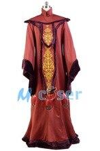 Star Wars: Episode I The Phantom Menace Padme Amidala Red Gown Dress Halloween Robe Cosplay Costumes For Adult Women Custom Made