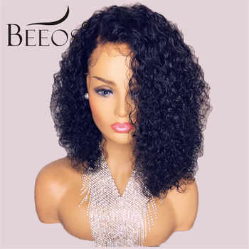 Beeos Short 13x6 Lace Front Human Hair Wigs 180% Pre Plucked with Baby Hair Deep Part Curly Brazilian Remy Hair Lace Front Wigs - DISCOUNT ITEM  48% OFF All Category