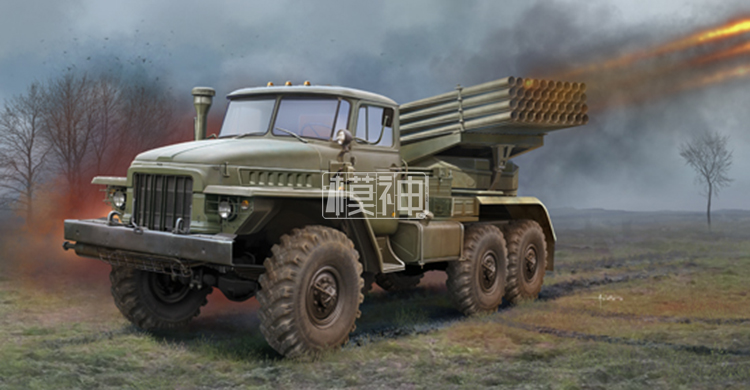 The assembly model of 1/35 BM-21 of Russia military hail MLRS trucks 01028 1 100 age 2 normal mg up to the basic type of assembly model for assembly model