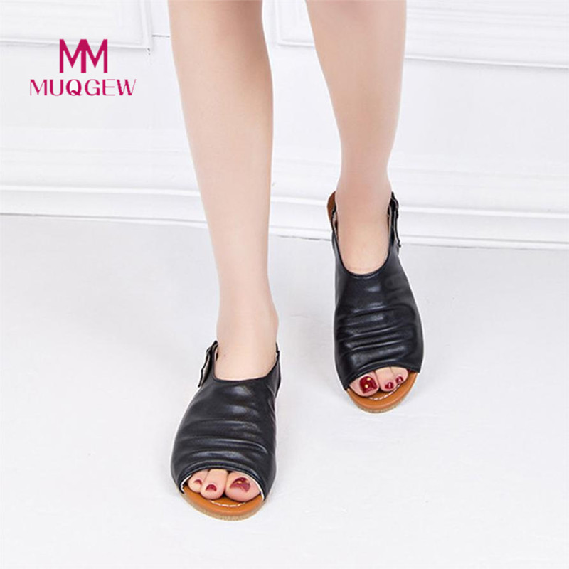 New Fashion Summer Women Bohemian Fish Mouth Shoes Sandals Flats Shoes Casual Rome Sandals European Rome Style Sandalias Shoes xiaying smile new summer women sandals casual fashion shoes bohemian style flats ladies hollow string bead flora slip on shoes