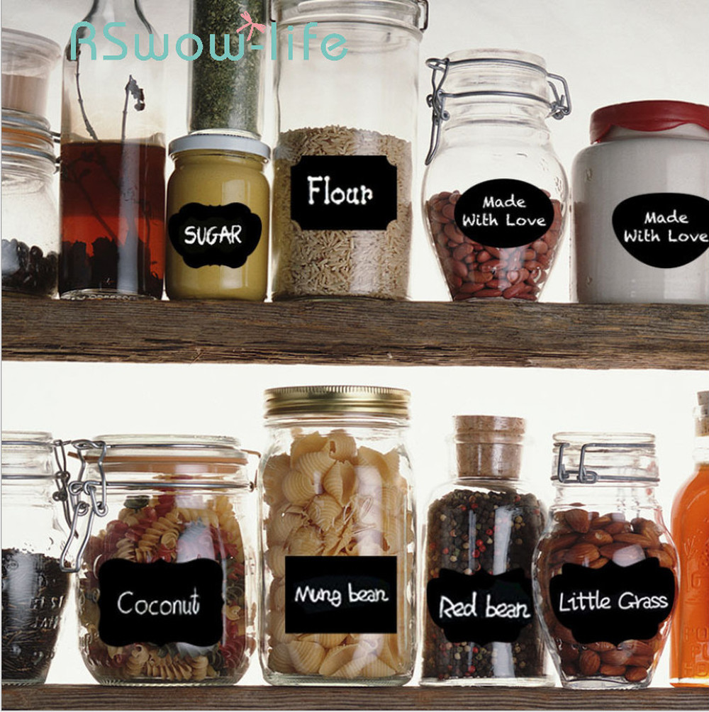 20Pcs Combination Label Sticker Graffiti Easy To Erase Seasoning Bottle Sticker Organizador De Cocina For Home Decor Stickers-in Wall Stickers from Home & Garden