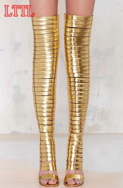 Online Get Cheap Gold Knee Boots -Aliexpress.com   Alibaba Group