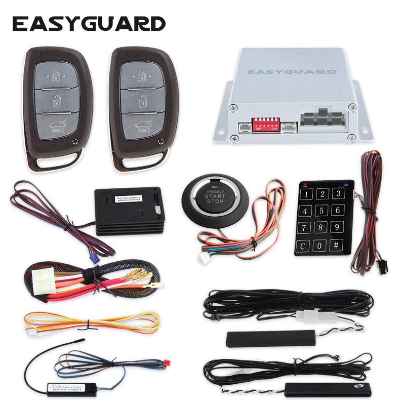 Nouveau système d'alarme de voiture PKE à télécommande de style de mode démarrage à distance du moteur capteur de choc de démarrage du moteur pour voitures universelles