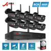 ANRAN Plug And Play P2P 960P 8CH WIFI NVR Kit 3 Array IR Outdoor Video 1