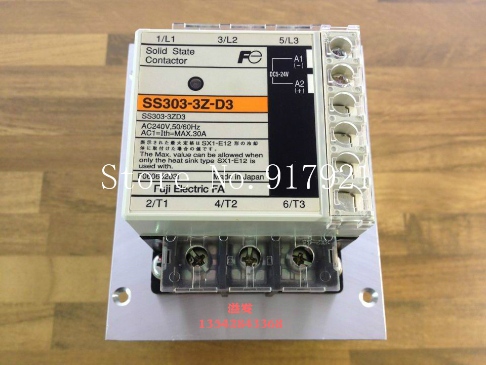 [ZOB] Fuji SS303-3Z-D3 three-phase solid state relay (to ensure the original authentic) new new and original sa366200d sa3 66200d gold 3 phase solid state relay 4 32vdc 90 660vac 200a