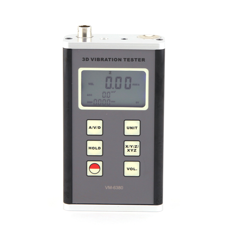 New High Accuracy Digital 3D Tester Vibrometer Vibrator Acceleration VM-6380 3 Axis Piezoelectric Accelerometer Vibration Meter