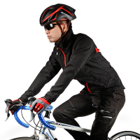 Rockbros Winter Fleece Cycling Jacket Windproof Waterproof Reflective MTB Road Riding Bike Clothing Bicycle Jackets 4XL