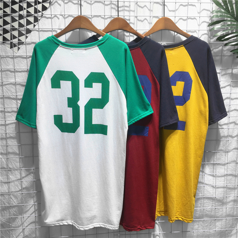 Women Harajuku Style Number Printed Dress Loose Short Sleeve Summer Dress New Casual Korean Dresses Basketball Baseball Dress