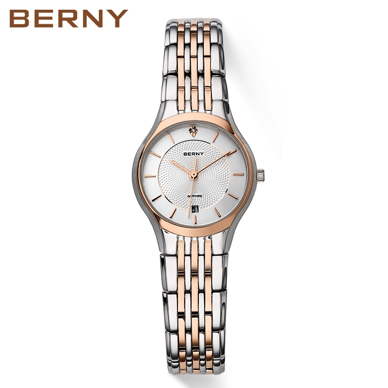Berny female Watches Top Brand Luxury Watch Stainless Steel Quartz Watch fashion casual watch with calendar 2752L все цены