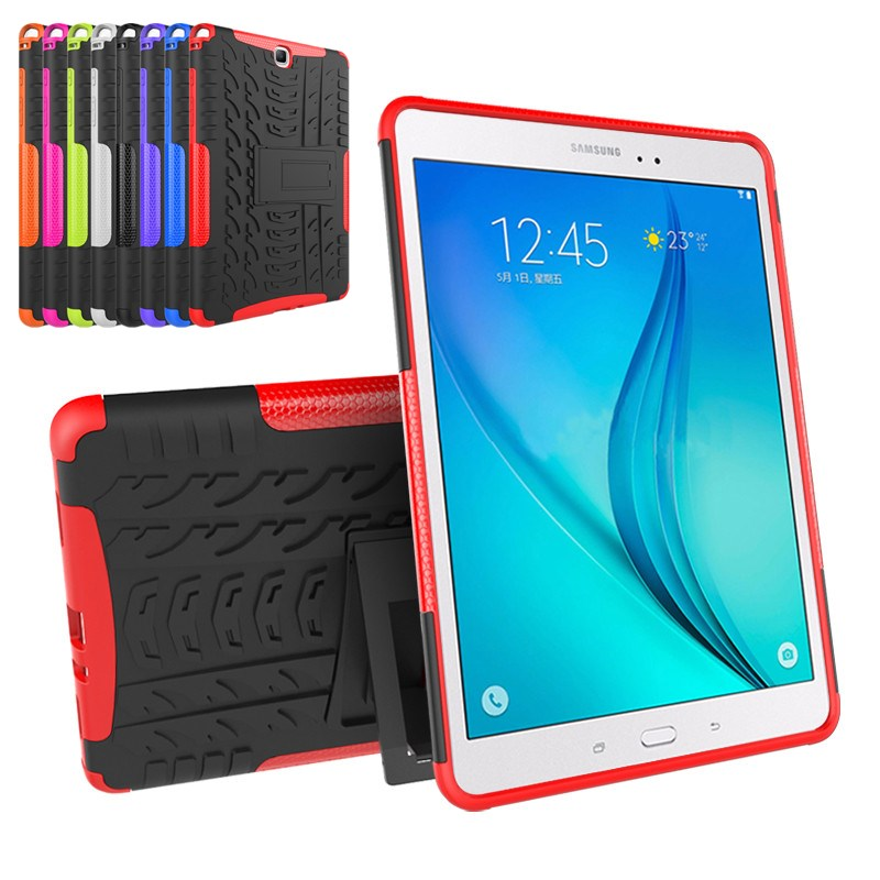 Hybrid Rugged Combo Heavy Duty Armor Cover Case For Samsung Galaxy Tab A 9.7 SM T555 T550 P550 SM-T550 Stand Tablet PC+TPU Case