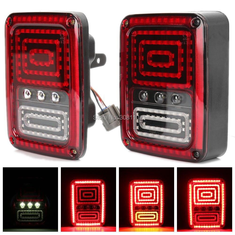Пара высокой мощности LED Обратный резервный сигнала поворота света парковка стоп-сигнал для Jeep Вранглер JK, 2007-2017/1976-1986 джип СИДЖЕЙ-7