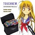 TOUCHNEW 30/40/60/80 Color Sketch Markers Doppia Headed Alcol Grassa Marcatori Per Disegnare Manga Animation disegno Rifornimenti di Arte