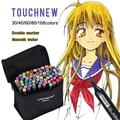 Touchnew 30/40/60/80 color Marcadores del bosquejo doble cabeza alcohol marcadores para dibujar manga animación diseño de arte suministros