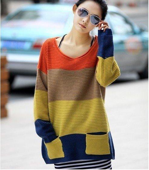 El nuevo estilo medio vestido de suéter de gran tamaño cómodo murciélagos ocio pelaje lanudo ENVÍO GRATIS