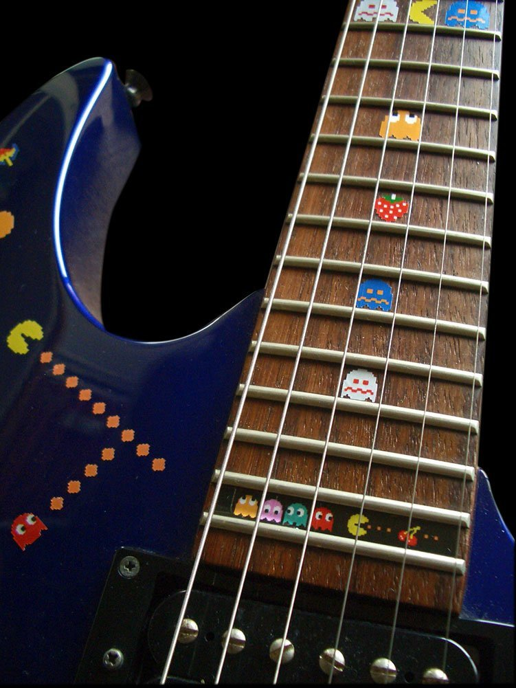 Fretboard Markers Inlay Sticker Decals for Guitar Bass - Pacman fretboard markers inlay sticker decals for guitar twisted snake