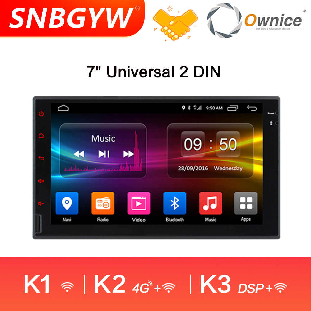 Ownice K1 K2 K3 Radio Android 8 Core 4G + 32 GB Auto Radio GPS Android 2 din Multimidia carro Ondersteuning 4G LTE CarPlay DH229