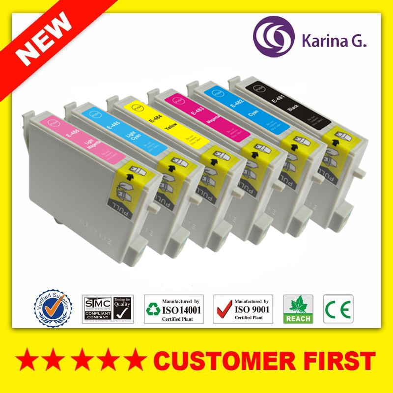 Compatible For T0481 T0481 - T0486 ink cartridge For EPSON Stylus Photo R200 R220 R300 R300M R320 R340 RX500 RX600 RX620 RX640 image