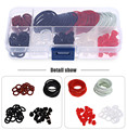 Professional 180 Pcs Rubber Tattoo Accessories Kit O-rings Rubber Bands Pin Cushions Supplies with Small Storage Box
