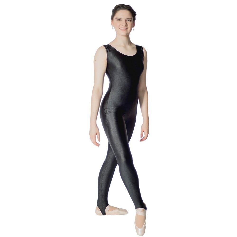 Freebily Kids Girls Glossy Metallic Long Sleeve Leotard Unitard Dance wear Catsuit Full Length Bodysuit Jumpsuit Costumes