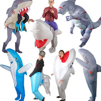 Halloween Cosplay Carnival Inflatable Shark costume Party Costumes for women men Animal mascot cosplay props stage performances