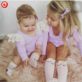 Wholesales 6pcs/lot Baby Long Sleeve T shirts For Girls Toddler Children Girls Tee Tops With Lace Cotton Kids T-shirts Clothes