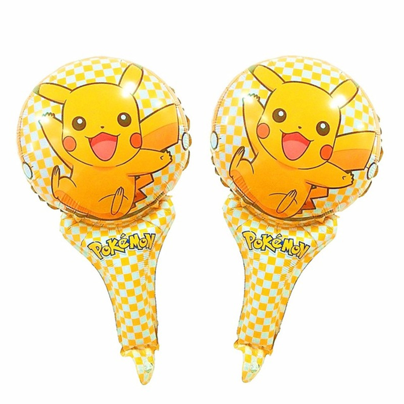 50pcs/lot globos pokemon Foil Balloons Inflatable toys Pikachu air Balloons kids toys happy Birthday balloons Party Supplies